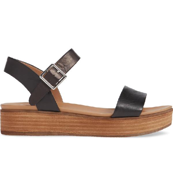 8dd12ed90b Steve Madden Aida Platform Sandal In Black Leather | ModeSens