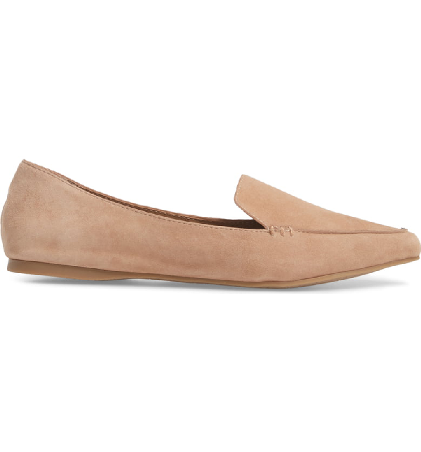 05f3ff508ad Feather Loafer Flat in Camel Suede
