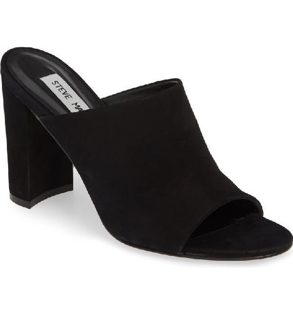 fd18e8b1974 Steve Madden Esmeralda Slide Sandal In Black Nubuck