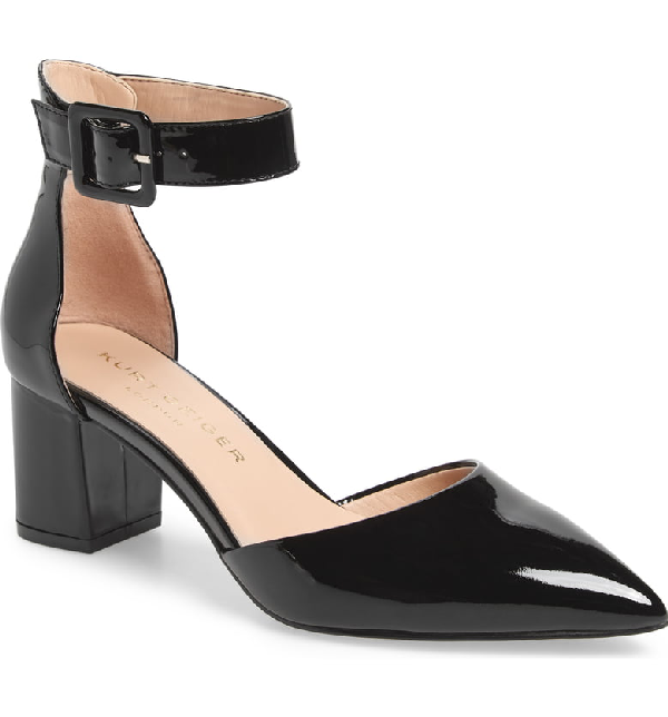 ddeddc8642 Kurt Geiger London Burlington Ankle Strap Pump In Black Patent Leather