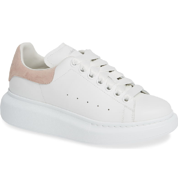 Alexander Mcqueen Runway Crocodile-Embossed Detail Leather Trainers In White