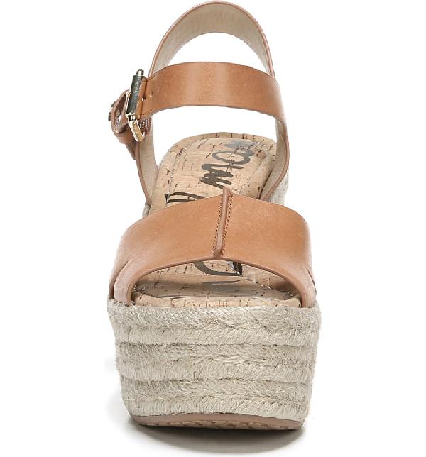 6a74b04b1a6 Maura Leather Platform Espadrille Sandals in Natural Bluff