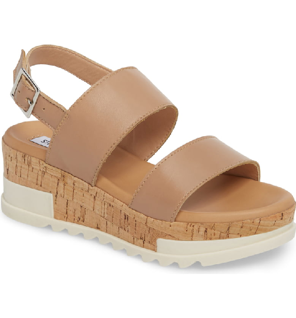 e4cc17fa497 Brenda Wedge Sandal in Natural Leather