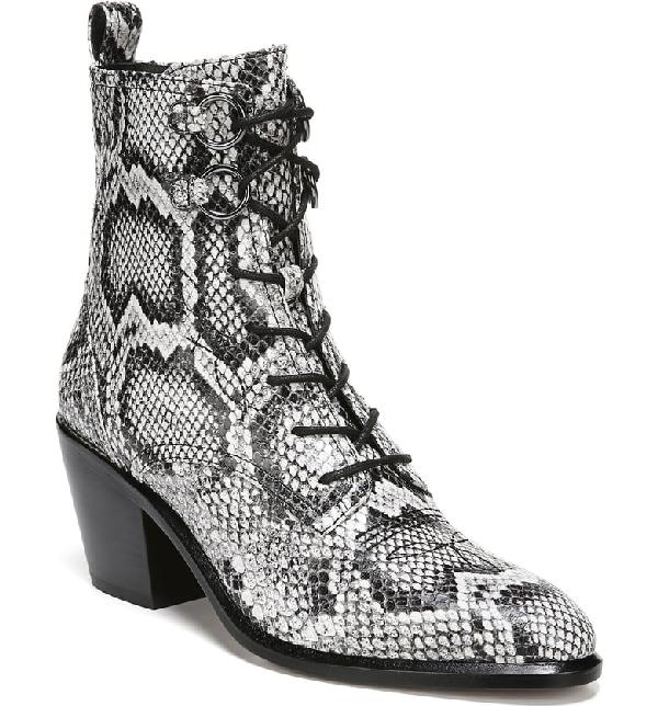 1d55fa5515 Diane Von Furstenberg Dakota Lace-Up Snake-Effect Leather Ankle Boots In  Snake Print