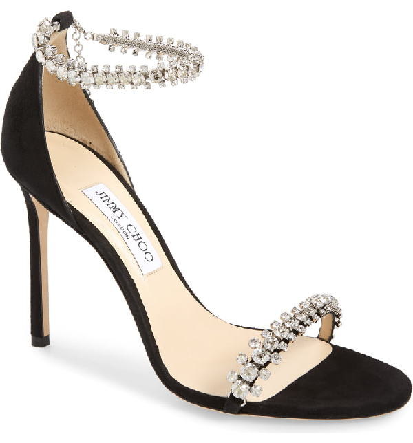 479e483f320 Jimmy Choo Shiloh Jewel Embellished Sandal In Black Suede | ModeSens