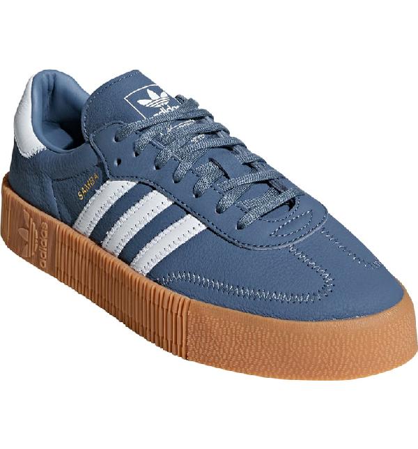158ce88db0ca Adidas Originals Samba Rose Sneaker In Raw Steel  White  Gum