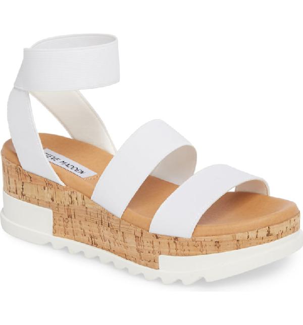 7759c4817 Steve Madden Bandi Platform Wedge Sandal In White   ModeSens