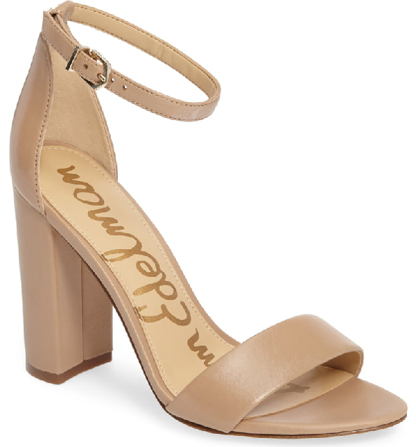 e965797a6c Sam Edelman Women's Yaro Ankle Strap Block Heel Sandals In Classic Nude Nappa  Leather