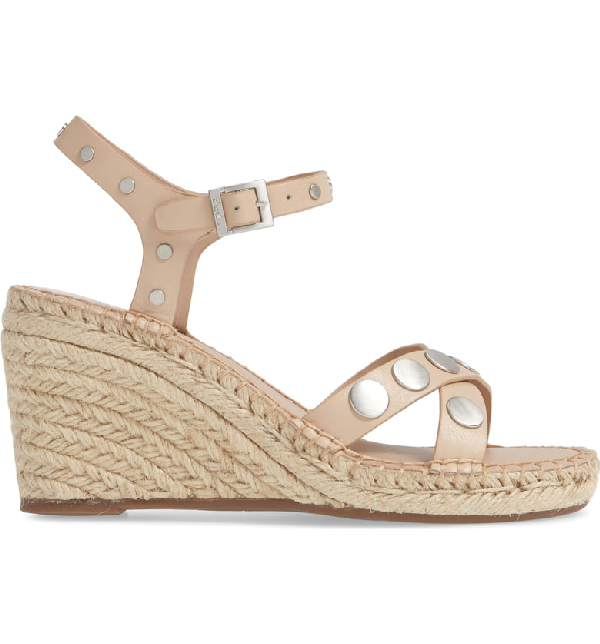 aee4872d7f8 Nacho Studded Wedge Sandal in Nude Faux Leather