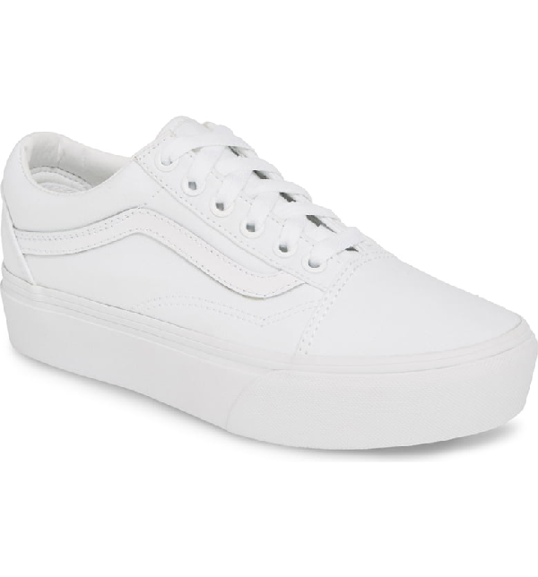 Old Skool Platform Sneaker in True White