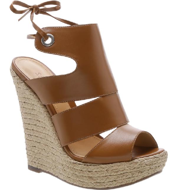 3e262aa7936 Ilione Platform Wedge Sandal in Wood Leather