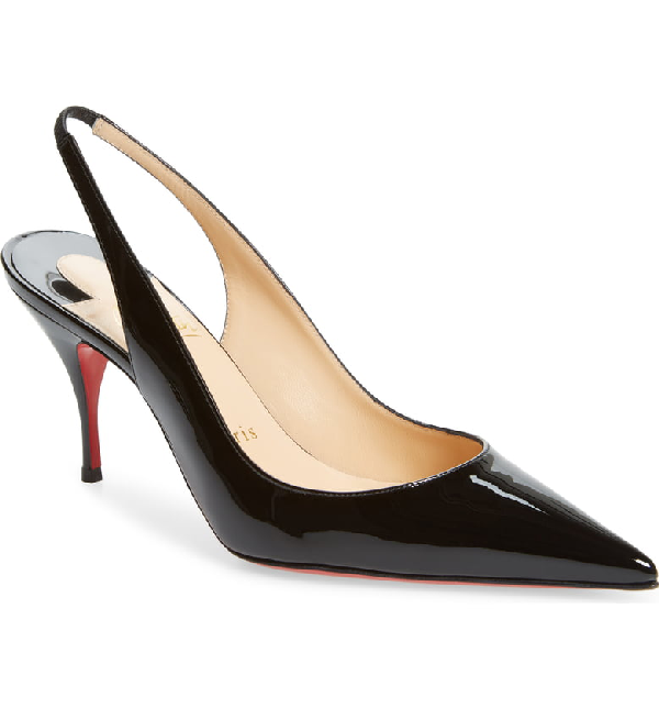 567a78e1c58 Clare 80 Patent-Leather Slingback Pumps in Black