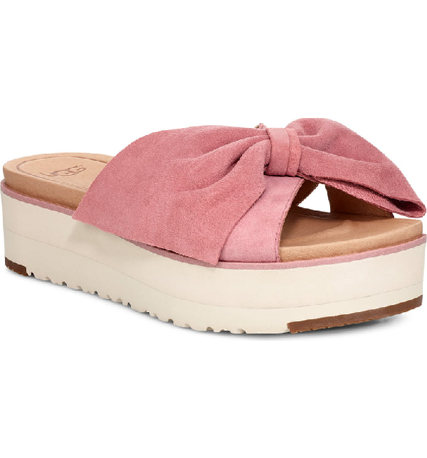 7c508f43110 Ugg Joan Ii Platform Slide Sandal in Pink Dawn Suede