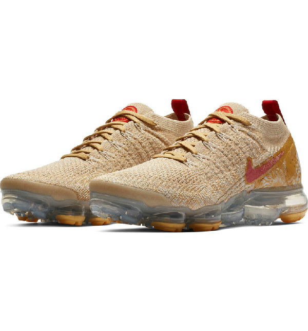 920ab93b9a Nike Air Vapormax Flyknit 2 Chinese New Year Running Shoe In Light Bone/  Red/