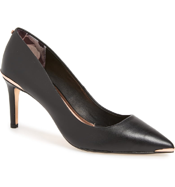 8ef598f5b7 Ted Baker Women's Wishiri Pointed-Toe Pumps In Black Leather | ModeSens