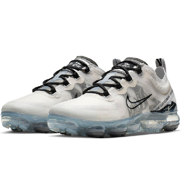 75a177c2 Nike Air Vapormax 2019 Mesh Trainer Sneakers In Vast Grey/ Black/ Silver