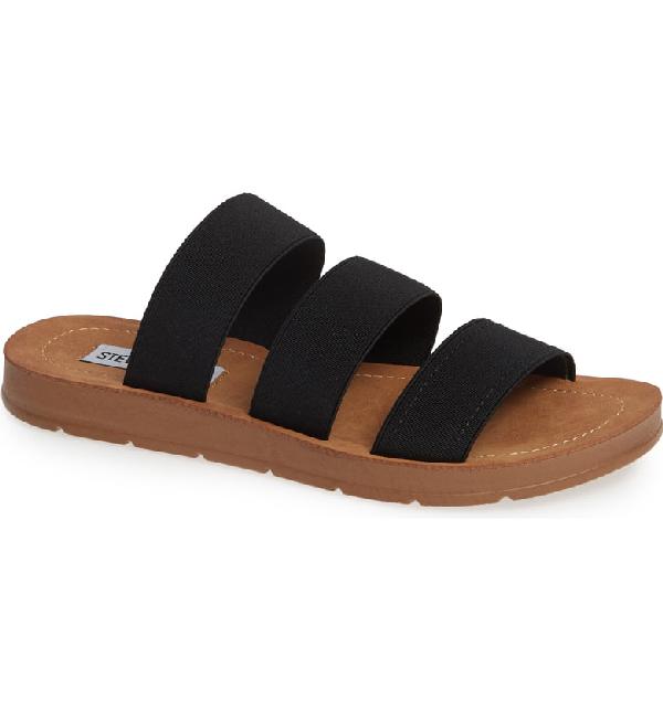 01c2365dbd12 Steve Madden Pascale Slide Sandal In Black Fabric