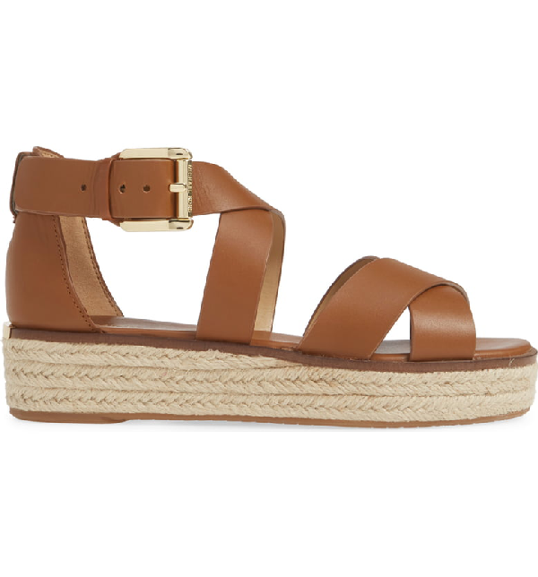 65a6b8a6179 Darby Leather Flatform Espadrille Sandals in Luggage