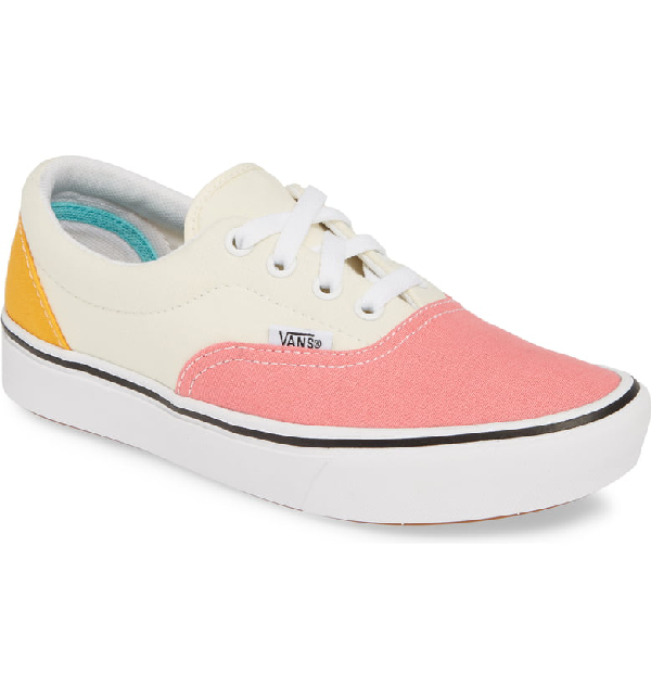 Comfycush Era Colorblock Sneaker in Strawberry Pink/ Zinnia/ White