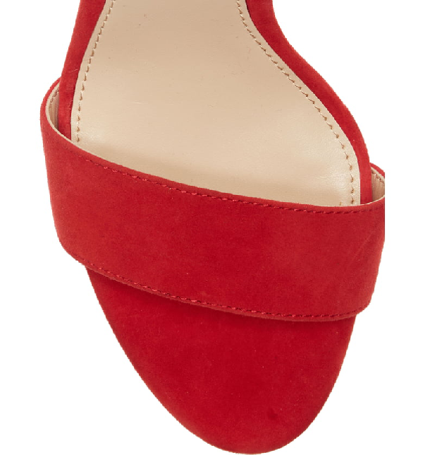 e3cd3a9632bf Vince Camuto Sathina Sandal In Glamour Red Suede | ModeSens