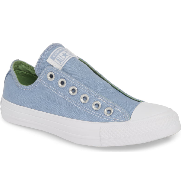 8123044a75af Converse Chuck Taylor All Star Laceless Low Top Sneaker In Indigo Fog/ Peat  Moss/