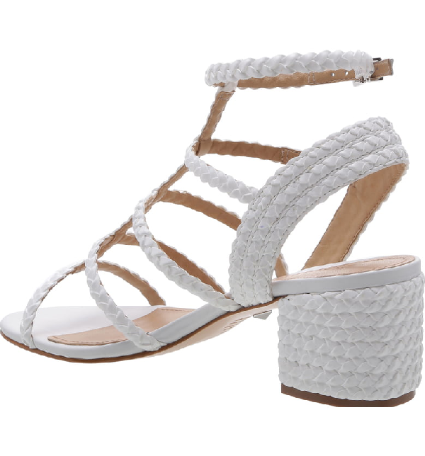 4bea4a73e4 Schutz Women's Rosalia Strappy Block-Heel Sandals In White | ModeSens