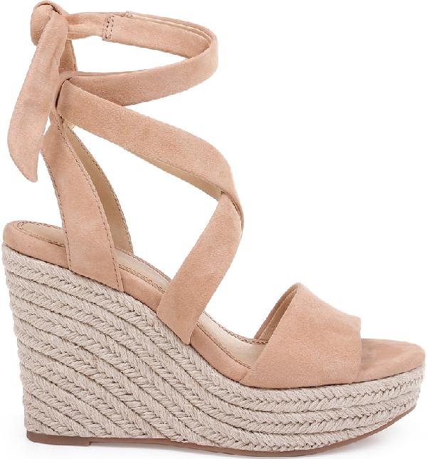 2cd12010423 Women's Tessie Ankle-Tie Wedge Sandals in Tan Suede