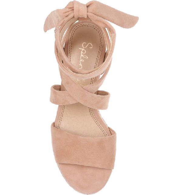 2f14520ae85c Splendid Women s Tessie Ankle-Tie Wedge Sandals In Tan Suede