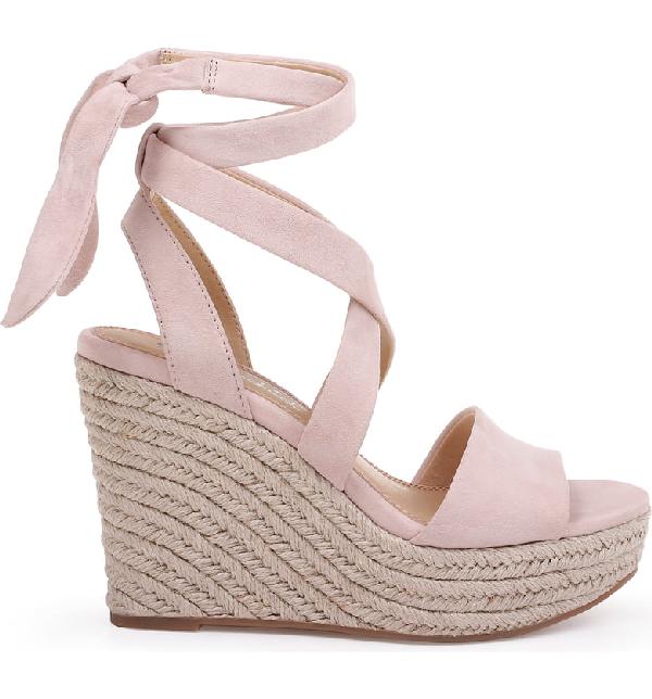 f18ba671df8 Women's Tessie Ankle-Tie Wedge Sandals in Blush Suede