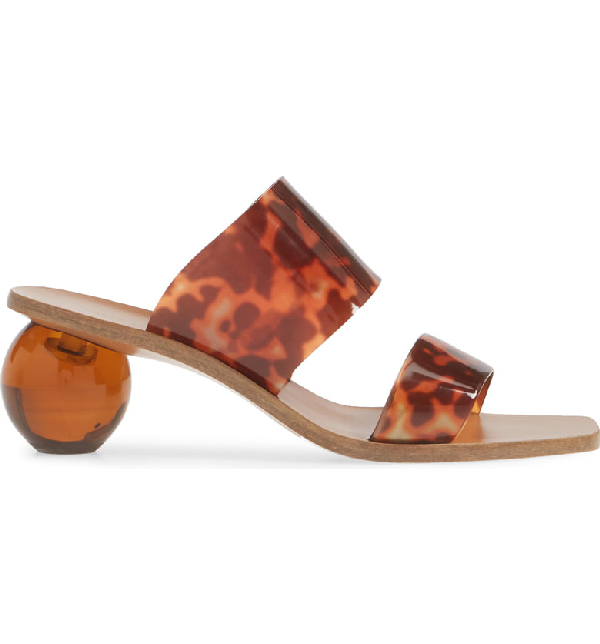 bd731d511504b Jila Tortoiseshell-Effect Vinyl Sandals in Brown