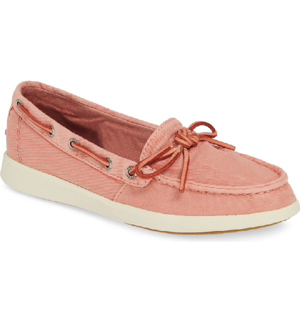 c571fb61e3d7 Sperry Oasis Canal Washed Twill Boat Shoe In Washed Red Canvas ...