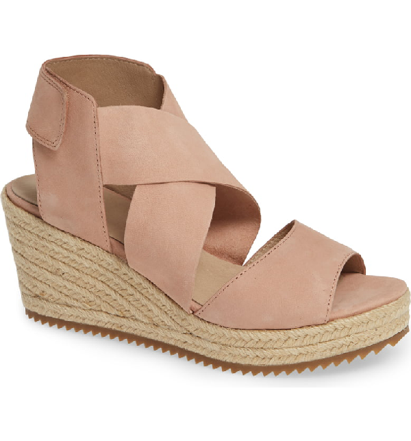 07c4b6cdf Eileen Fisher 'Willow' Espadrille Wedge Sandal In Toffee Cream Nubuck