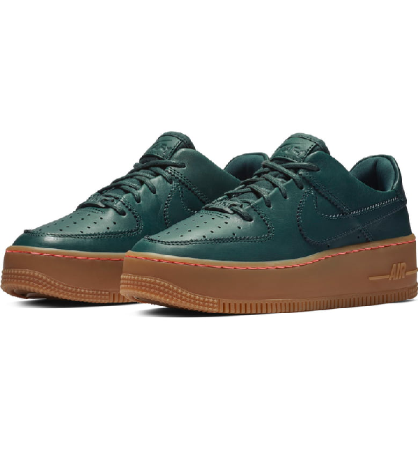 premium selection 09990 de5ef Nike Air Force 1 Sage Low Lx Sneaker In Deep Jungle  Light Brown