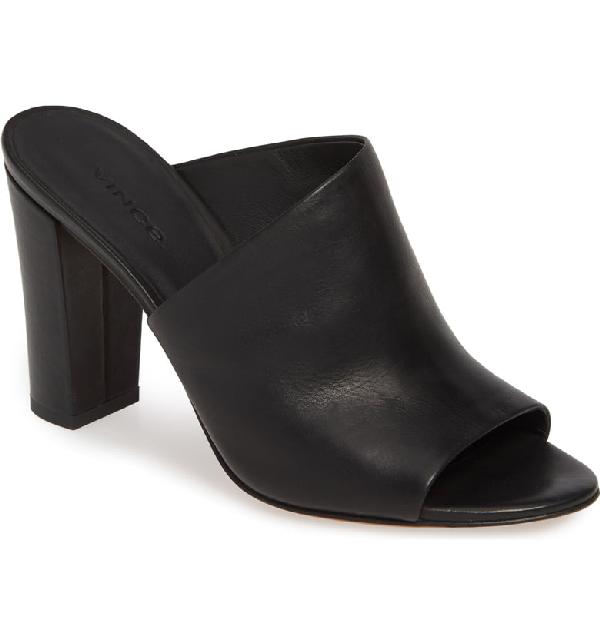 61bba57cbe7 Vince Hanna Block Heel Sandal In Black   ModeSens