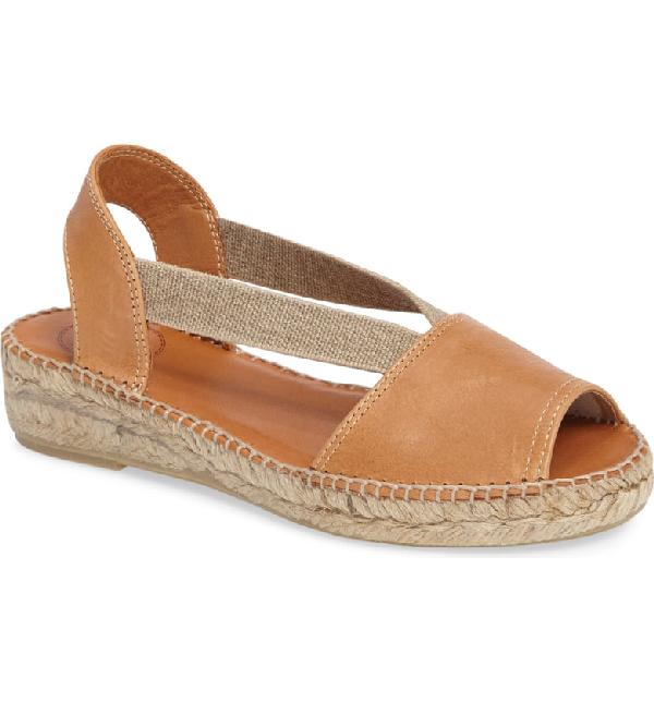 7f53c9fa106 Etna Espadrille Sandal in Tan Leather