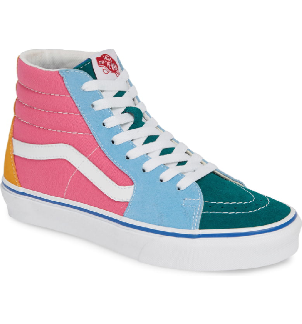 0346d6706f1 Vans Sk8-Hi Colorblock Sneaker In Suede/ Canvas Multi/ Bright. Nordstrom