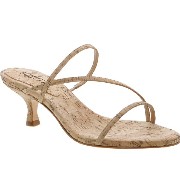 5ce084902098 Schutz Women s Evenise Kitten Heel Sandals In Natural Fabric
