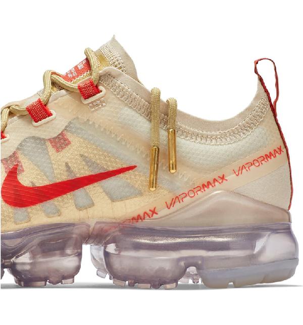 67887f70cf707 Nike Air Vapormax 2019 Chinese New Year Running Shoe In Cream  Habanero Red   Club