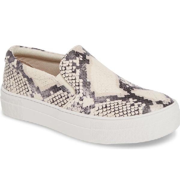 69791d72eec3 Steve Madden Gills Platform Slip-On Sneaker In Beige Snake Print ...