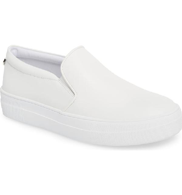 9f78acf8e1ae Steve Madden Gills Platform Slip-On Sneaker In White Leather | ModeSens