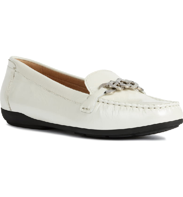 be04e489a0 Geox Annytah Loafer In White Patent Leather | ModeSens