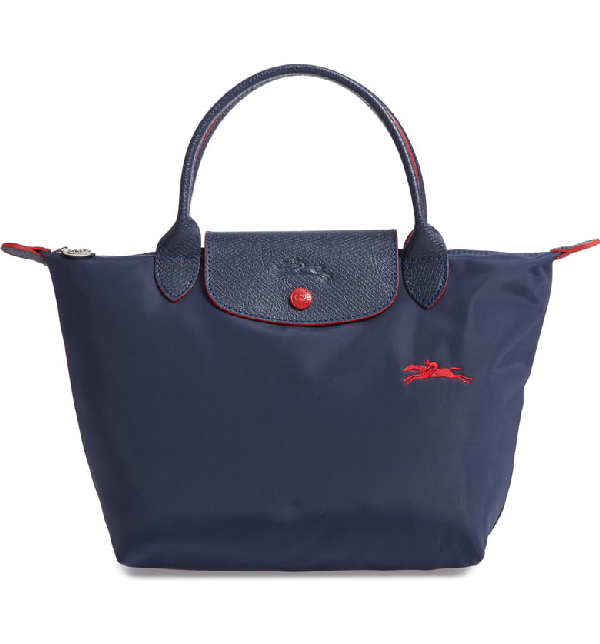 8ffdfd5604 Longchamp Le Pliage Club Small Top-Handle Tote Bag In Navy | ModeSens