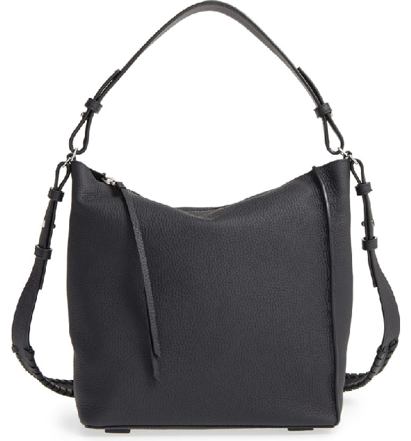 13c24ac9fd Allsaints 'Kita' Leather Shoulder/Crossbody Bag - Black | ModeSens