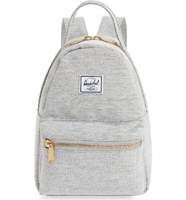 c3b63adb8 Herschel Supply Co. Mini Nova Backpack - Grey In Light Grey Crosshatch