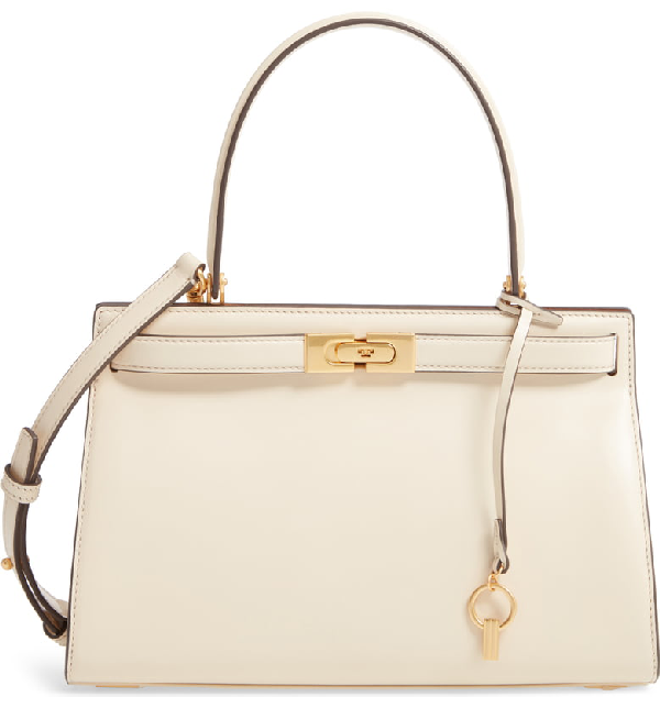 bda3b3a6c02c Tory Burch Lee Radziwill Small Leather Satchel In New Cream | ModeSens
