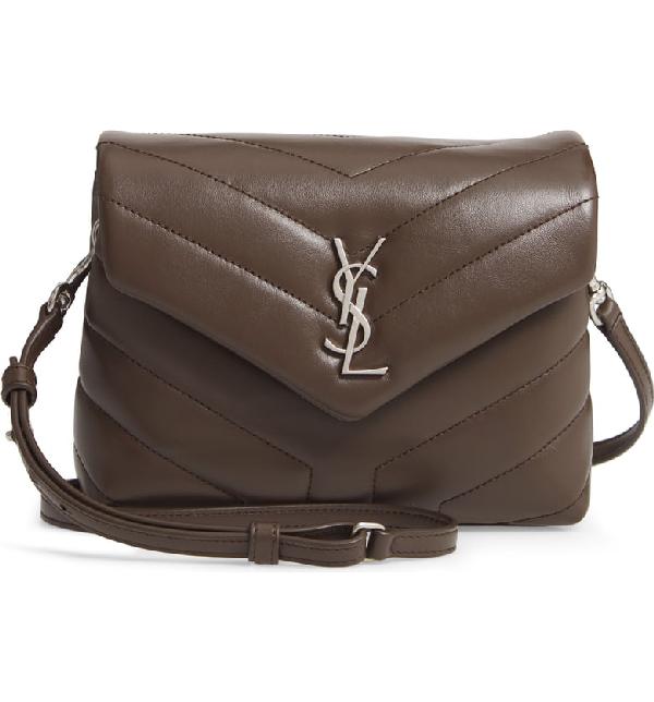 b7d7eb37b6d Saint Laurent Monogram Loulou Toy Small Leather Shoulder Bag - Brown ...
