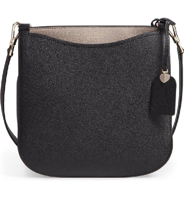 5ab299316cc Kate Spade Margaux Large Crossbody Bag - Black In Black  Warm Taupe ...