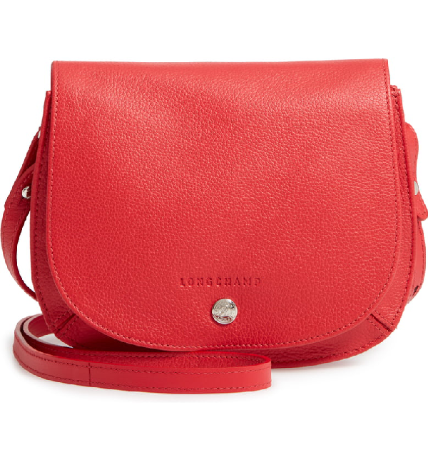 c1a59715ae Longchamp Small Le Foulonne Leather Crossbody Bag - Red In Red Orange.  Nordstrom