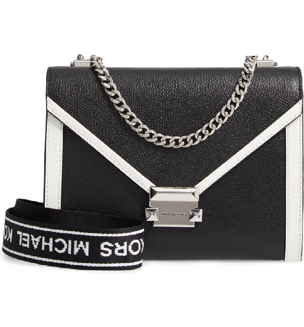 0726c5fc2a Michael Michael Kors Large Whitney Leather Shoulder Bag - White In Black /  White. Nordstrom