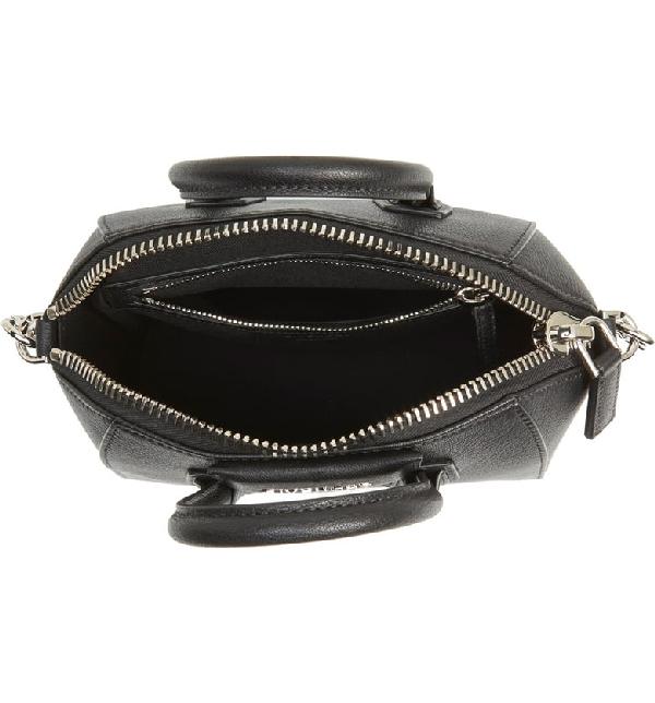 Givenchy 'Medium Antigona' Sugar Leather Satchel - Black